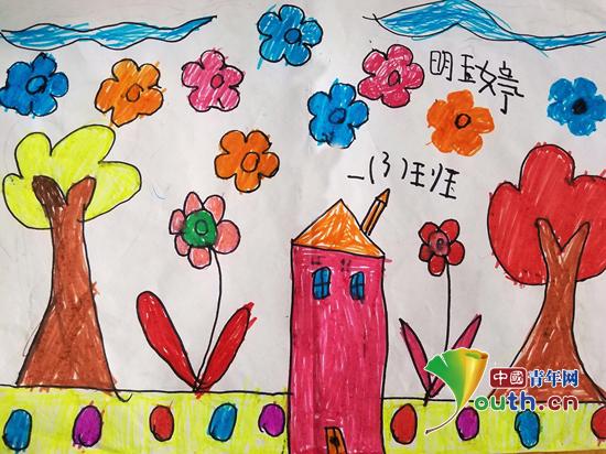 儿童海报手绘秋天