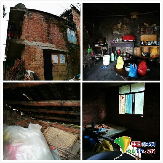 武汉理工大学第十八届研究生支教团三都服务队来到三都县廷牌镇走访贫困学生杨小林一家。