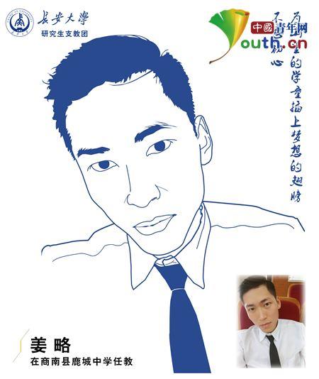 长安大学第十九届研究生支教团成员姜略的自画像.姜略 供图