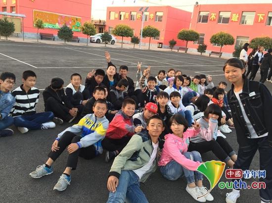 图为中国矿业大学第十九届研支团队员李博华班上可爱的孩子们。李博华 供图