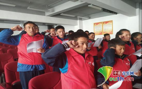 华南师大研支团助卡若区二中成立志愿服务分队