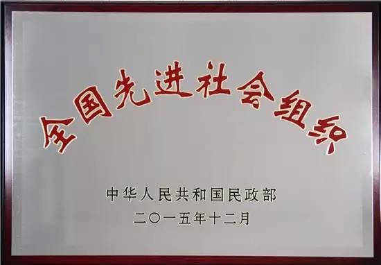 中国青年志愿者协会喜获全国先进社会组织