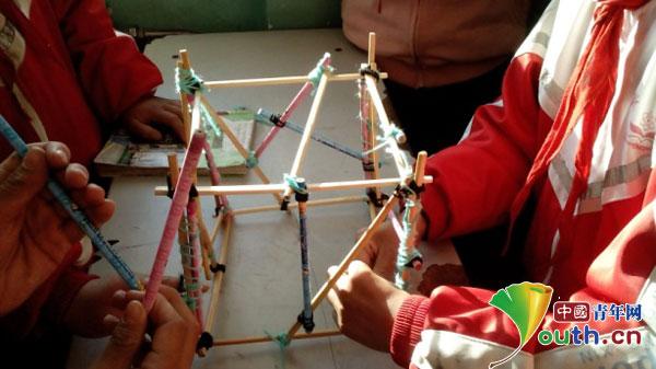 个立方体框架结构