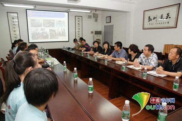 洋县马畅中小学师生与西安建筑科技大学附中师生进行座谈