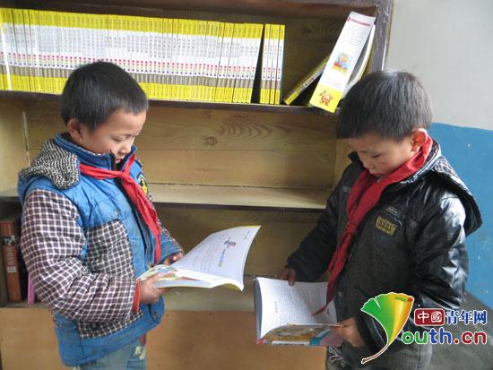 河北工大研支团为睦化小学搭建爱心图书室