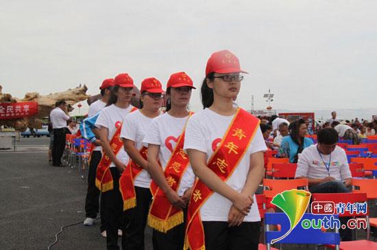 和静县团委组织30余名西部计划志愿者开展志愿服务活动.马嘉怡 供图